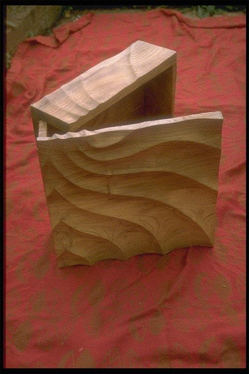 Carved Elm Box