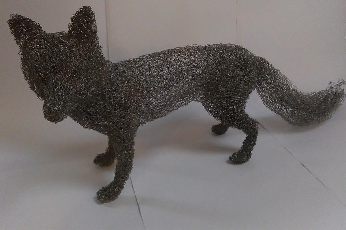 Chicken Wire Fox Sculpture