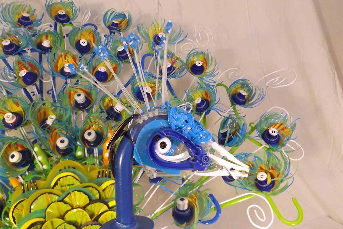 Recycled Peacock