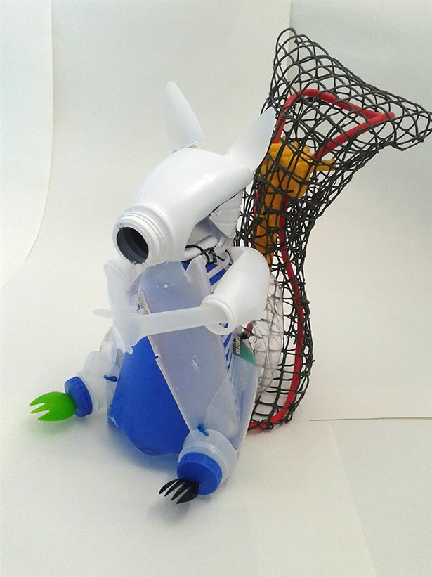 Recycled Squirrel Sculpture